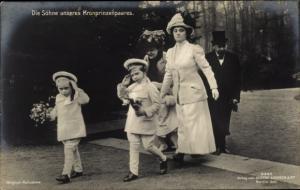 Ak Porträt, Die Söhne unseres Kronprinzenpaares, Gustav Liersch 3345