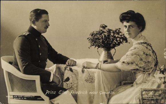 Ak Sophie Charlotte von Oldenburg, Eitel Friedrich Prinz von Preußen, Liersch 2006 0