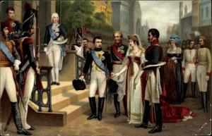 Ak Napoléon 1er et la Reine de Prusse à Tilsit