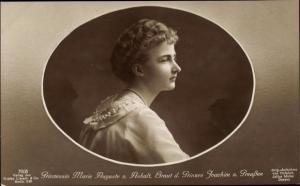 Ak Porträt von Prinzessin Marie Auguste v. Anhalt, Braut des Prinzen Joachim von Preussen