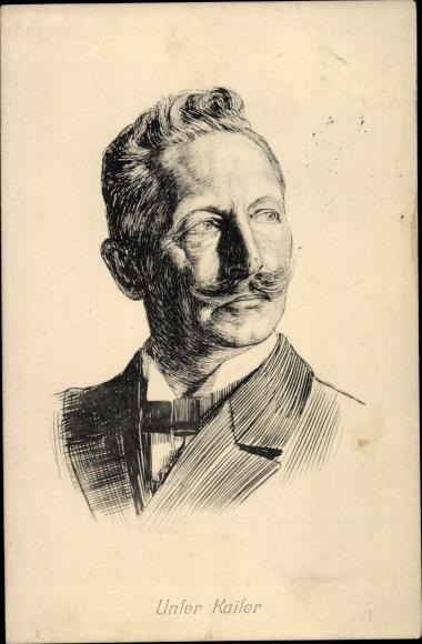 Künstler Ak Portrait, Kaiser Willhelm II. von Preußen 0