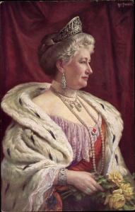 Künstler Ak Fischer, Art., Kaiserin Auguste Viktoria, Portrait, Wohlfahrtskarte, RPH