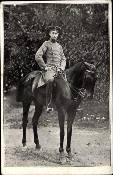 Ak Kronprinz Friedrich Wilhelm von Preußen zu Pferde 0