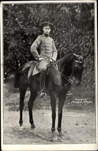 Ak Kronprinz Friedrich Wilhelm von Preußen zu Pferde