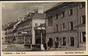 Ak Warszawa Warschau Polen, Trasa, Straßenpartie