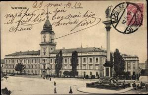 Ak Warszawa Warschau Polen, Zamek, Schloss, Denkmal