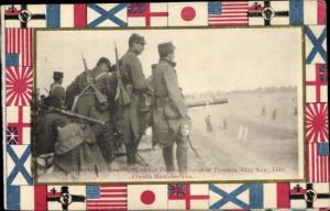 Ak Tianjin Tientsin China, International Manooeuvre of the Foreign Troops 1913, French Machine Gun