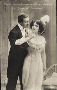Ak Schauspielerin Gerda Krum Funcker und Henry Seemann, in Greven af Luxemburg