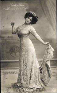 Ak Schauspielerin Gerda Krum in Damen fra Nixxa