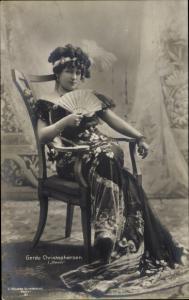 Ak Schauspielerin Gerda Christophersen in Kean