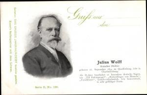 Ak Dichter Julius Wolff