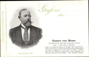 Ak Dichter Gustav von Moser