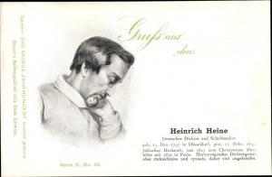 Ak Dichter und Schriftsteller Heinrich Heine