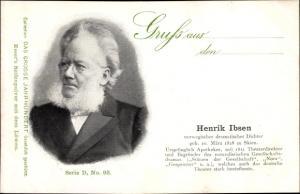 Ak Dichter Henrik Ibsen