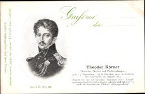 Ak Dichter Theodor Körner