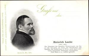 Ak Dichter Heinrich Laube