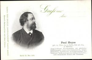 Ak Dichter Paul Heyse