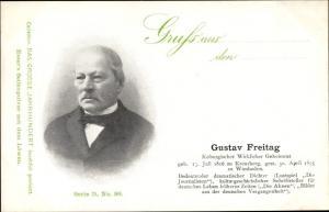 Ak Dichter Gustav Freitag