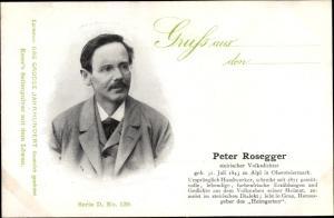 Ak Dichter Peter Rosegger