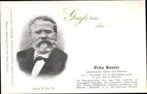 Ak Dichter Fritz Reuter