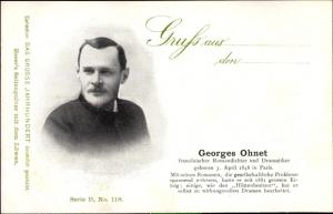 Ak Dichter Georges Ohnet