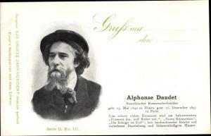 Ak Schriftsteller Alphonse Daudet