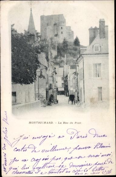 Ak Montrichard Loir et Cher, Rue du Pont 0