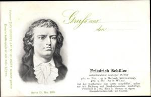 Ak Dichter Friedrich Schiller