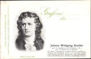 Ak Dichter Johann Wolfgang Goethe