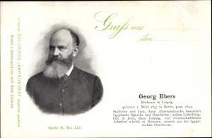 Ak Dichter Georg Ebers