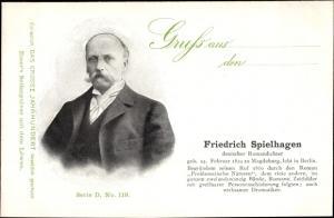 Ak Dichter Friedrich Spielhagen