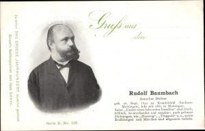 Ak Dichter Rudolf Baumbach