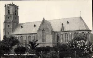 Ak Middelharnis Südholland, Ned. Herv. Kerk