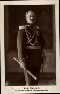 Ak Kaiser Wilhelm II. von Preußen, 25 jähriges Regierungsjubiläum, Marschallstab