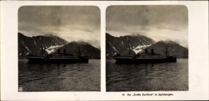 Stereo Foto NDL Schiff Der Große Kurfürst in Spitsbergen Spitzbergen Norwegen, NPG