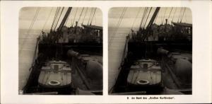 Stereo Foto NDL Schiff Der Große Kurfürst, An Bord, NPG