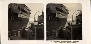 Stereo Foto NDL Schiff Der Große Kurfürst, An Bord, Austendern, NPG