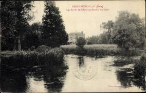 Ak Berthenonville Eure, Bords de l´Epte au Moulin du Fayet