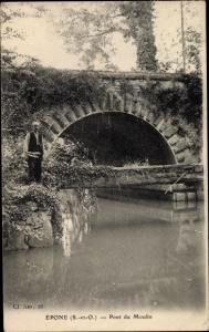 Ak Epone Yvelines, Pont du Moulin