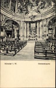 Ak Münster in Westfalen, Clemenshospital, Innenansicht