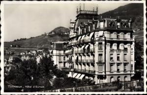 Ak Montreux Kanton Waadt Schweiz, Hotel d'Europe