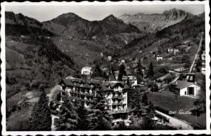 Ak Glion Montreux Kanton Waadt, Panorama vom Ort