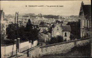 Ak Lagny Thorigny Seine et Marne, Vue Générale de Lagny