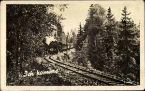 Ak Deutsche Eisenbahn, Dampflok, Ich komme