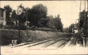 Ak Bois Colombes Hauts de Seine, Ligne Saint Germain
