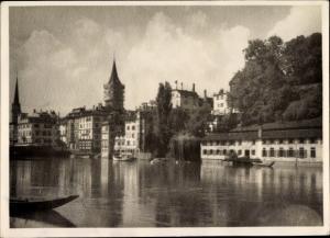 Foto Zürich Stadt Schweiz, Uferpartie