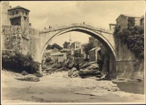 Foto Mostar Bosnien Herzegowina, Brückenpartie