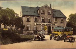 Ak Claußnitz im Kreis Mittelsachsen, Konzertetablissement, Gasthof zum Weißen Ross, Otto Petzold