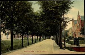 Ak Appingedam Groningen Niederlande, Stationsweg