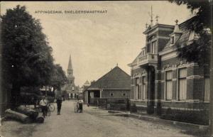 Ak Appingedam Groningen Niederlande, Snelgersmastraat